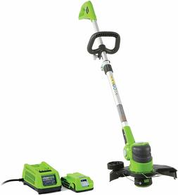 Greenworks 12-Inch 24V Cordless String Trimmer 2.0 AH Batter