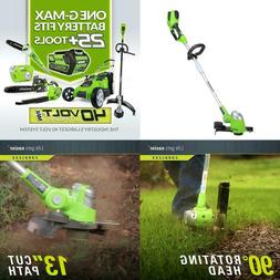 Greenworks 13-Inch 40V Cordless String Trimmer Edger Battery