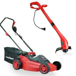14-Inch 36V Cordless Lawn Mower with Electric String Trimmer