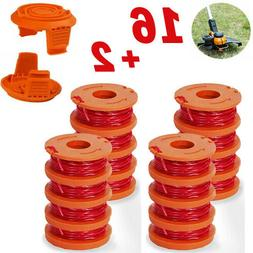 16Pack Replacement Spool Line with 2 Pack Spool Cap Cover Fo