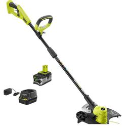 RYOBI 18V ONE+ P2080 String Trimmer with 4.0Ah Battery and C
