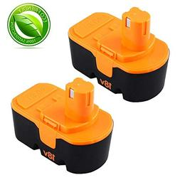 Fhybat for Ryobi 18v Battery Replacement ONE+ P100 P104 P105