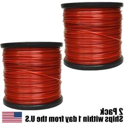 2PK 5lb .095 Square Red Commercial String Trimmer Line Spool