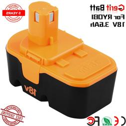 3.6AH Replace for Ryobi 18V Battery NiMh ONE P100 P101 Plus