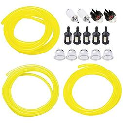 HUZTL 5 Feet 3 Sizes Fuel Line Hose with Snap in Primer Bulb