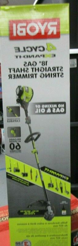 """Ryobi 4-Cycle Expand It 18"""" Gas Straight Shaft String Trimme"""