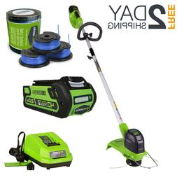 40V Brushless Cordless String Trimmer With Battery And Charg