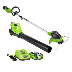 40V Cordless String Trimmer and Blower Combo Pack,up to 45 m
