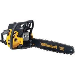 """Poulan Pro 20"""" 50CC Gas Powered 2 Cycle Chain Saw Home Tree"""