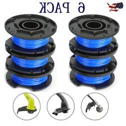 6 Pack Auto Feed Line String Trimmer Replacement Spool kit F