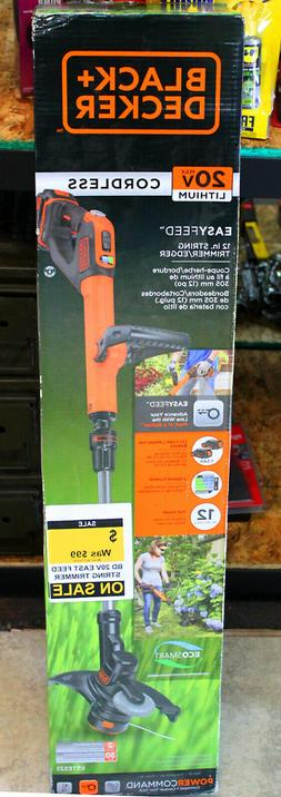 "BLACK+DECKER EASYFEED 20V Max 12"" Straight Cordless String T"