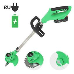Cordless Electric Grass Trimmer Edger Lawn Mower Weed Brush