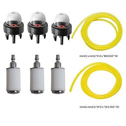 HIFROM Fuel Lines with Fuel Filters Primer Bulbs for Poulan