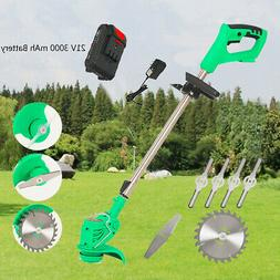 Garden Cordless Electric Grass Trimmer Edger Lawn Mower Weed