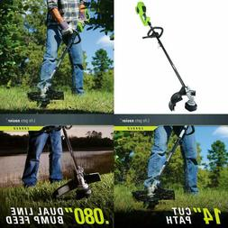 Greenworks 14-Inch 40V Cordless String Trimmer , Battery Not