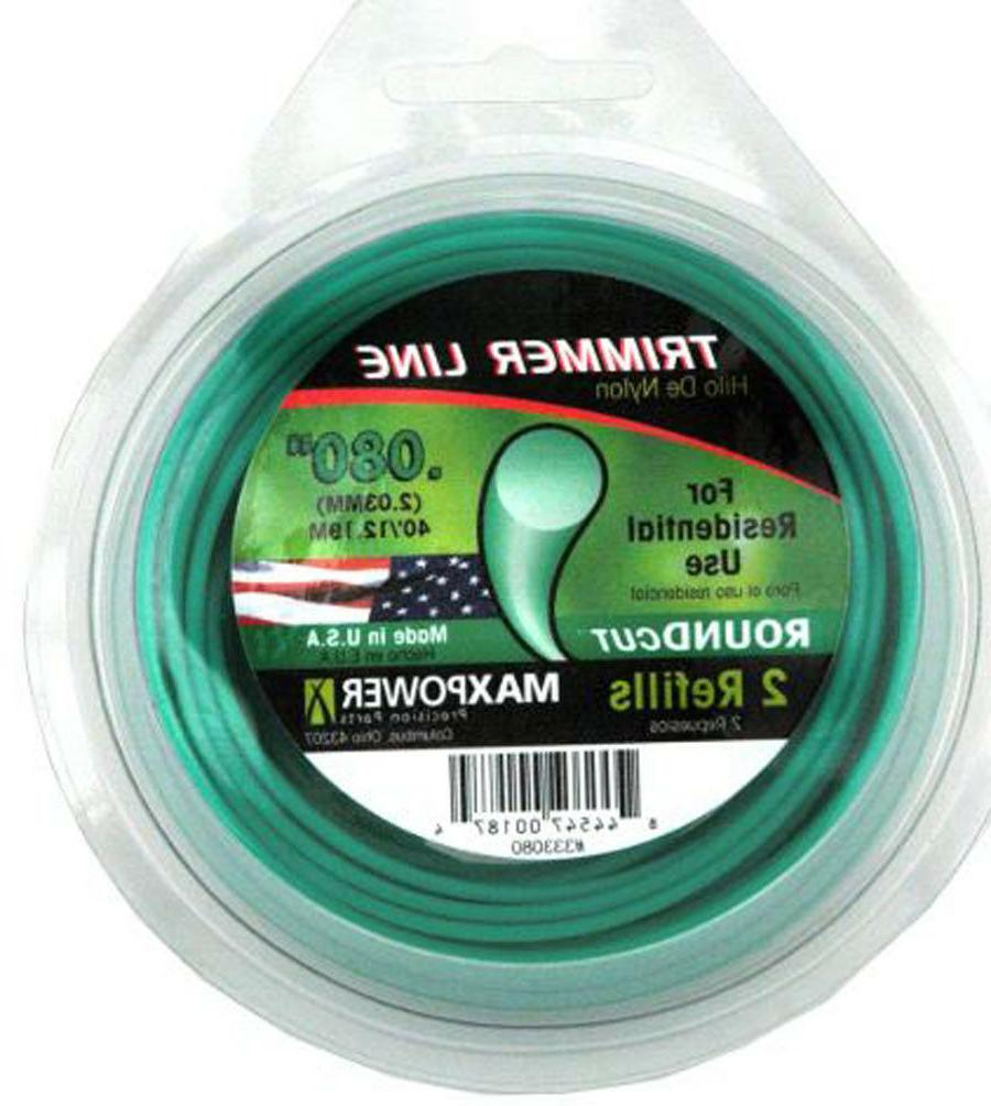 ".080"" 40-Foot Residential Round Twisted String Trimmer Line"