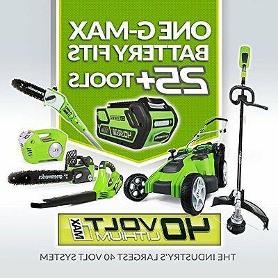 Greenworks 40V G-MAX Cordless in. String