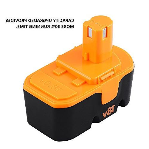 Fhybat for Battery Replacement ONE+ P100 P104 P105 High Capacity Cordless Tools Batteries 2