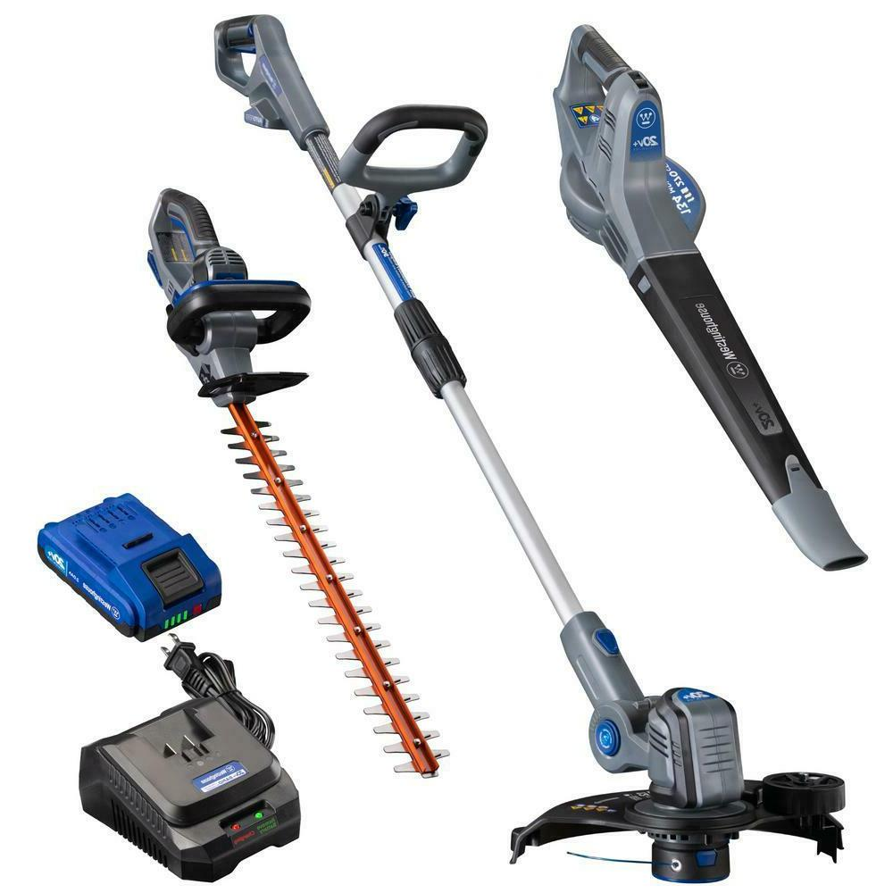 cordless 3 tool hedge trimmer leaf blower