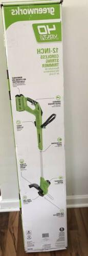 Greenworks Cordless 40V String Trimmer w/battery and Charger