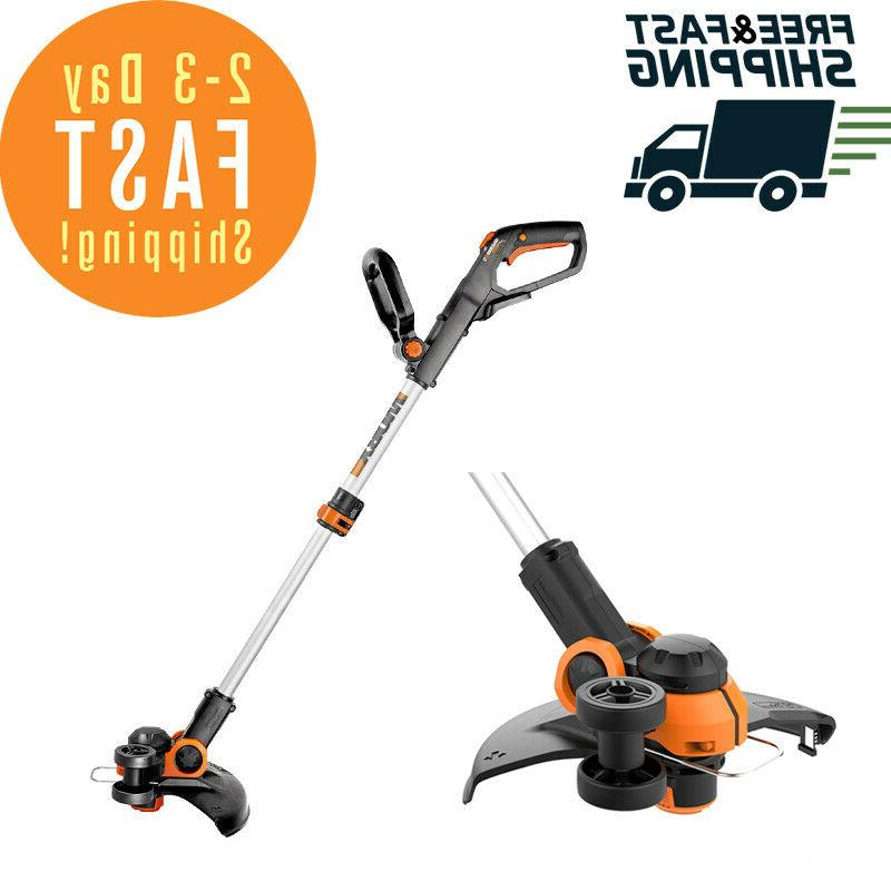 cordless electric string trimmer weed eater lawn
