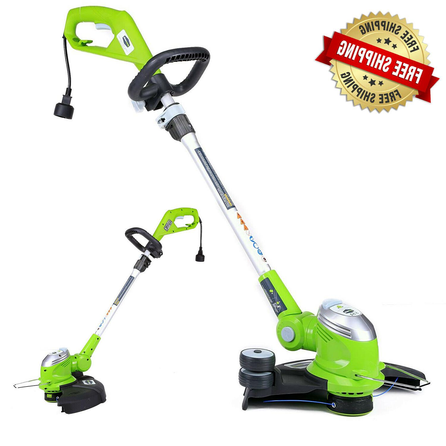 greenworks corded electric trimmer edger