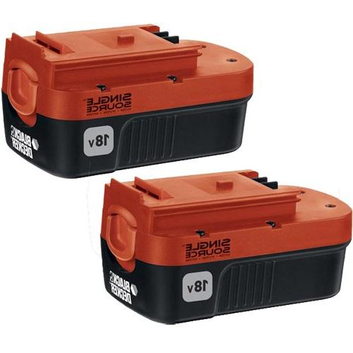 Black Decker HPB18-OPE2 18V Ni-Cd Slide Battery