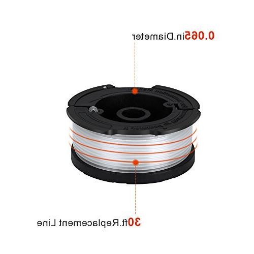 Replacement Autofeed Replacement Spools BLACK+DECKER Trimmers, Pack