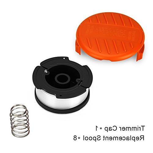 Eventronic Line String Autofeed Spools for BLACK+DECKER String Trimmers, 9 Pack