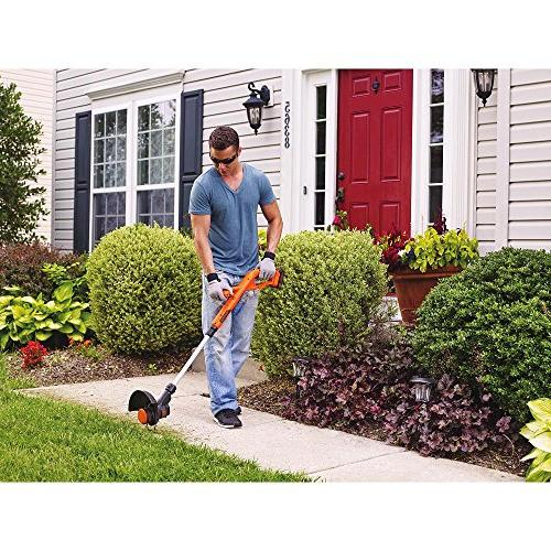 BLACK+DECKER LST201 MAX Lithium Ion Trimmer/Edger, 10""