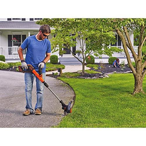 BLACK+DECKER LST522 20V MAX Lithium Trimmer/Edger, 12""
