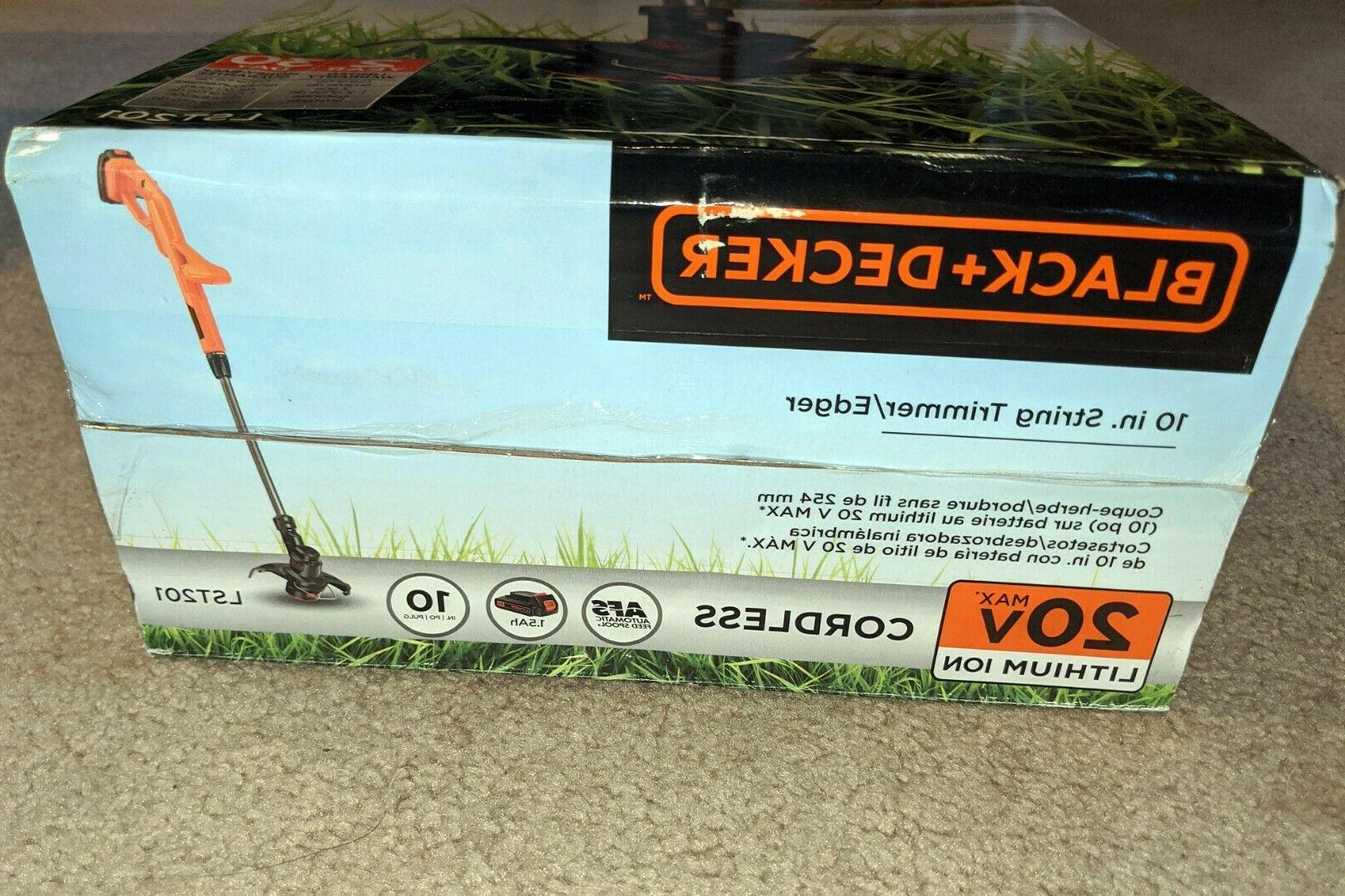 NEW Black & LST201 in MAX Ion String Trimmer w/