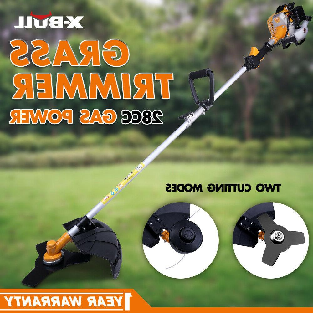 xbull grass string trimmer gas powered straight