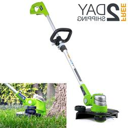 Lithium-Ion Cordless String Trimmer Edger Grass Weed Eater W