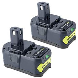 Biswaye 2 Pack 18V 5000mAH Lithium Ion Replacement Battery f