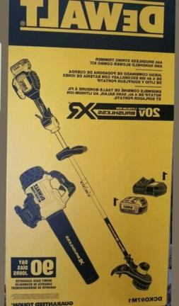 New Dewalt Blower & String Trimmer Kit Battery Brushless Mot