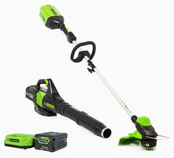 NEW!Greenworks STBA60B411 60V String Trimmer & Axial Blower