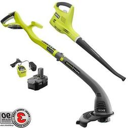 P2034 RYOBI ONE+ String Trimmer/Edger and Blower/Sweeper w/