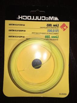 "McCulloch String Trimmer Line .065"" Yellow Round 50' trimmer"
