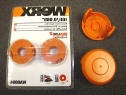 WORX WA0004 Trimmer Spool 2-Pack +  WA6531 Spool Caps