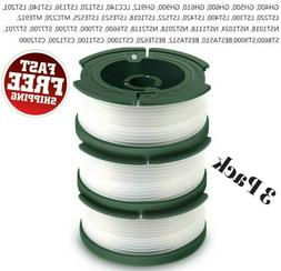 3 Pack Weed Eater Replacement Line String Trimmer Spool Blac