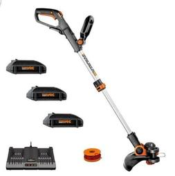 "Worx WG163.4 20V Cordless 12"" Grass Trimmer/Edger with Com"