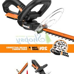 "Worx WG255.9 20V PowerShare 20"" Cordless Electric Hedge Trim"