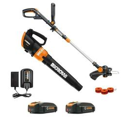 Worx WG954 20V Revolution Grass Trimmer/Edger and Turbine Bl