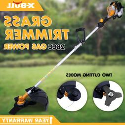 X-BULL Grass Trimmer 28cc Gas 2-Cycle Powered Straight Shaft