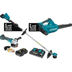 Makita 18V X2 LXT 5.0 Ah Li-Ion BL 2Pc Combo Kit w/ Angle Gr